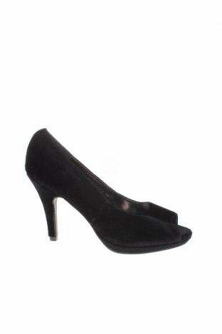 Дамски обувки, Размер 38, Цвят Черен, Текстил, Цена 8,40лв.