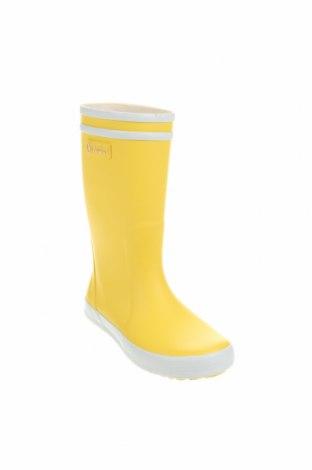 Детски обувки Aigle, Размер 30, Цвят Жълт, Полиуретан, Цена 129,00лв.