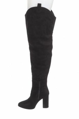 Дамски ботуши Even&Odd, Размер 37, Цвят Черен, Текстил, Цена 79,00лв.