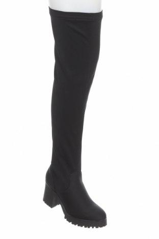 Дамски ботуши Missguided, Размер 38, Цвят Черен, Текстил, Цена 76,00лв.