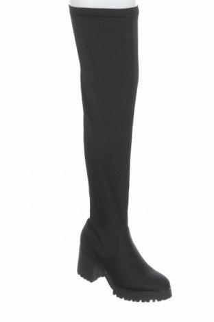Дамски ботуши Missguided, Размер 40, Цвят Черен, Текстил, Цена 76,00лв.