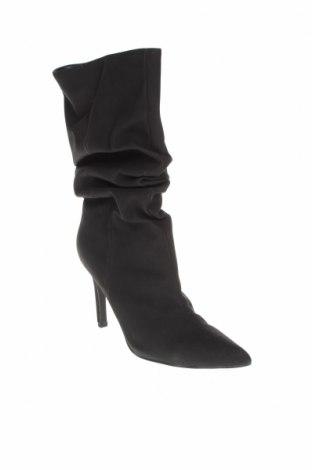 Дамски ботуши Missguided, Размер 38, Цвят Черен, Еко кожа, Цена 79,00лв.