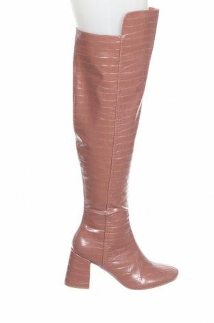 Γυναικείες μπότες Missguided, Μέγεθος 39, Χρώμα Σάπιο μήλο, Δερματίνη, Τιμή 36,70€