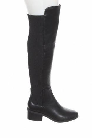 Дамски ботуши Steve Madden, Размер 38, Цвят Черен, Еко кожа, текстил, Цена 279,00лв.