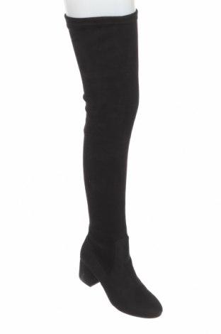 Дамски ботуши Steve Madden, Размер 38, Цвят Черен, Текстил, Цена 279,00лв.