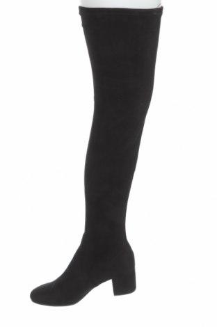 Дамски ботуши Steve Madden, Размер 39, Цвят Черен, Текстил, Цена 279,00лв.