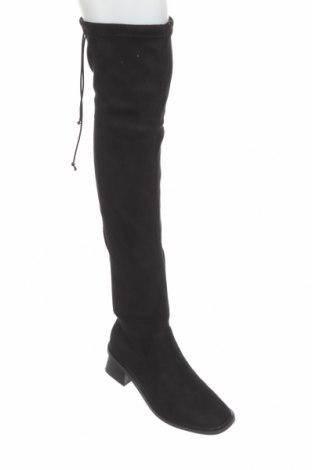 Дамски ботуши Topshop, Размер 36, Цвят Черен, Текстил, Цена 89,00лв.