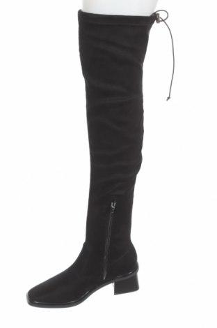 Дамски ботуши Topshop, Размер 37, Цвят Черен, Текстил, Цена 89,00лв.