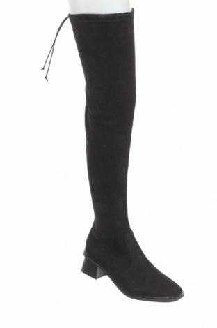 Дамски ботуши Topshop, Размер 41, Цвят Черен, Текстил, Цена 89,00лв.