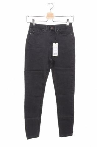 Дамски дънки, Размер XS, Цвят Сив, 79% памук, 19% полиестер, 2% еластан, Цена 19,40лв.