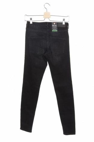 Дамски дънки Monki, Размер XS, Цвят Черен, 86% памук, 12% полиестер, 2% еластан, Цена 22,09лв.