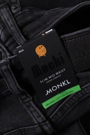 Дамски дънки Monki, Размер XXS, Цвят Черен, 86% памук, 12% полиестер, 2% еластан, Цена 22,09лв.