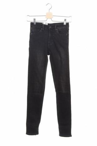 Дамски дънки Monki, Размер XS, Цвят Черен, 86% памук, 12% полиестер, 2% еластан, Цена 17,53лв.