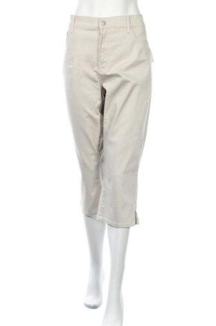 Дамски дънки NYDJ, Размер XXL, Цвят Бежов, 98% памук, 2% еластан, Цена 36,86лв.