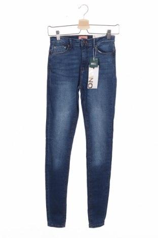 Dámské džíny  ONLY, Velikost XS, Barva Modrá, 98% bavlna, 2% elastan, Cena  342,00Kč