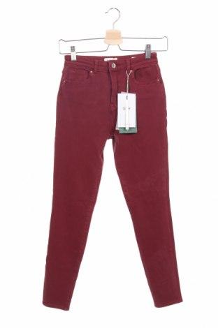 Дамски дънки ONLY, Размер XXS, Цвят Червен, 91% памук, 9% еластан, Цена 25,65лв.