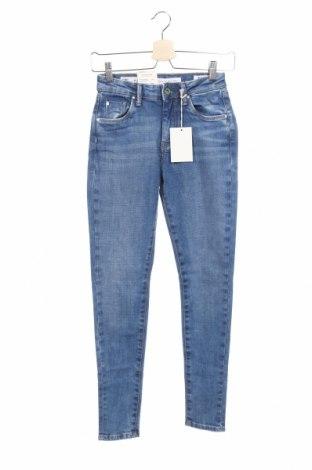 Γυναικείο Τζίν Pepe Jeans, Μέγεθος XS, Χρώμα Μπλέ, 99% βαμβάκι, 1% ελαστάνη, Τιμή 63,59€