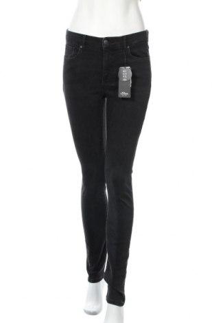 Dámské džíny  S.Oliver, Velikost M, Barva Černá, 92% bavlna, 8% elastan, Cena  1185,00Kč