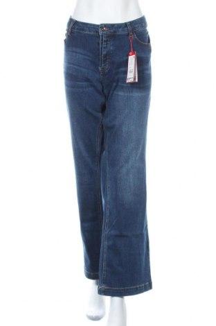 Дамски дънки S.Oliver, Размер XXL, Цвят Син, 65% полиестер, 35% памук, Цена 40,78лв.