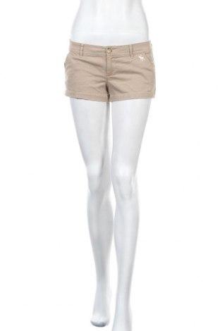 Дамски къс панталон Abercrombie & Fitch, Размер S, Цвят Кафяв, 98% памук, 2% еластан, Цена 22,68лв.