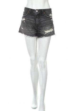 Дамски къс панталон Abercrombie & Fitch, Размер XS, Цвят Сив, Памук, Цена 39,90лв.