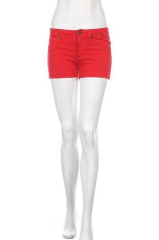 Дамски къс панталон Active Basic USA, Размер S, Цвят Червен, 68% вискоза, 27% полиамид, 5% еластан, Цена 25,20лв.