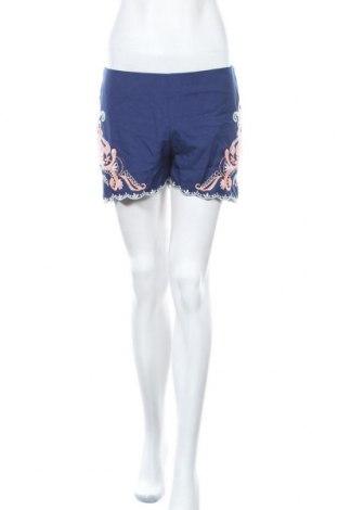 Дамски къс панталон Alya, Размер S, Цвят Син, 97% полиестер, 3% еластан, Цена 14,18лв.