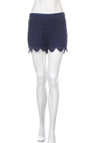 Дамски къс панталон Alya, Размер S, Цвят Син, Памук, Цена 15,75лв.
