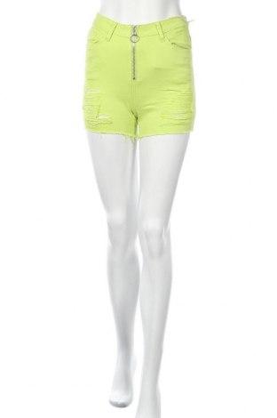 Дамски къс панталон American Bazi, Размер S, Цвят Зелен, 97% памук, 3% еластан, Цена 33,08лв.