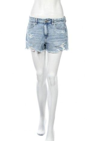 Дамски къс панталон American Eagle, Размер M, Цвят Син, 95% памук, 5% еластан, Цена 18,90лв.