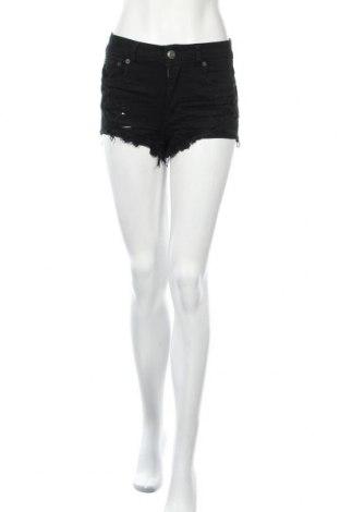 Дамски къс панталон American Eagle, Размер XS, Цвят Черен, 98% памук, 2% еластан, Цена 16,07лв.
