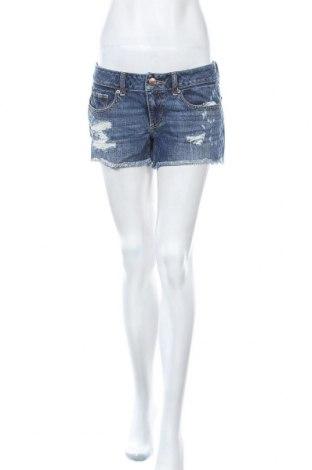 Дамски къс панталон American Eagle, Размер M, Цвят Син, 100% памук, Цена 18,90лв.