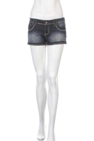 Дамски къс панталон Angels, Размер M, Цвят Син, 55% рамия, 23% памук, 20% полиестер, 2% еластан, Цена 5,51лв.