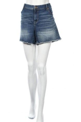 Дамски къс панталон Ava & Viv, Размер XXL, Цвят Син, 67% памук, 20% полиестер, 11% вискоза, 2% еластан, Цена 24,15лв.