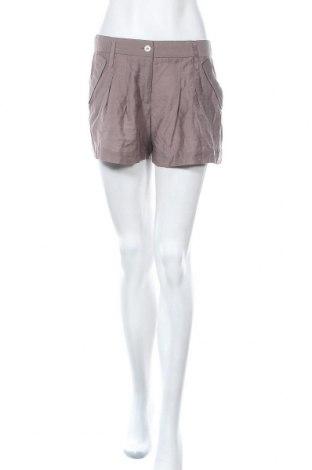 Дамски къс панталон BCBG Max Azria, Размер S, Цвят Кафяв, 53% вискоза, 31% лиосел, 16% полиамид, Цена 51,03лв.