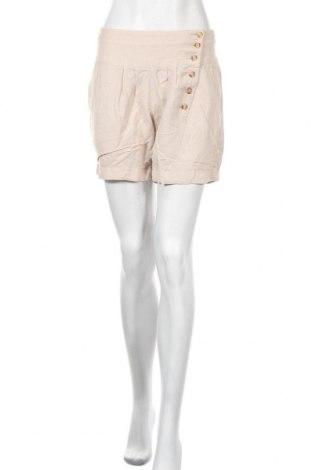 Дамски къс панталон De.corp By Esprit, Размер M, Цвят Бежов, 50% вискоза, 50% лен, Цена 18,90лв.