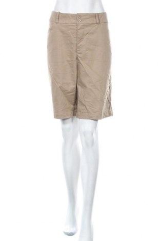 Дамски къс панталон Dockers, Размер XL, Цвят Кафяв, 37% полиестер, 60% памук, 3% еластан, Цена 15,12лв.