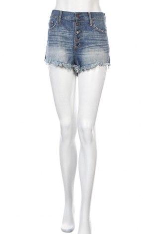 Γυναικείο κοντό παντελόνι Hollister, Μέγεθος L, Χρώμα Μπλέ, Βαμβάκι, Τιμή 5,72€