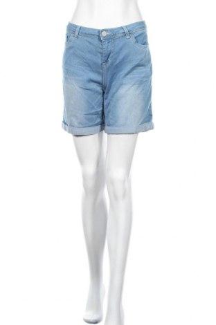 Дамски къс панталон Hot Kiss, Размер M, Цвят Син, 46% вискоза, 27% полиестер, 26% памук, 1% еластан, Цена 6,83лв.