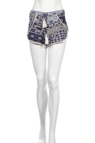 Дамски къс панталон Hot Kiss, Размер S, Цвят Многоцветен, 92% полиестер, 8% еластан, Цена 18,90лв.