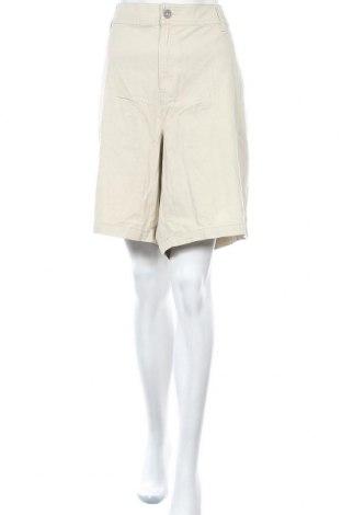 Дамски къс панталон Lane Bryant, Размер 4XL, Цвят Бежов, 59% памук, 38% лиосел, 3% еластан, Цена 49,14лв.