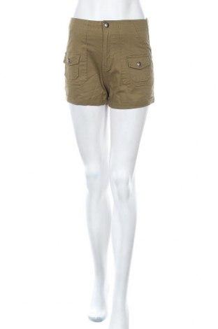 Дамски къс панталон Oviesse, Размер M, Цвят Зелен, 98% памук, 2% еластан, Цена 16,07лв.