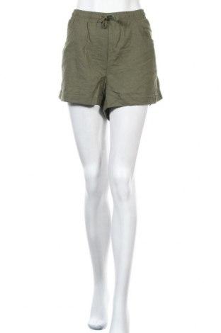 Дамски къс панталон Seasons, Размер XL, Цвят Зелен, 55% лен, 45% памук, Цена 7,72лв.