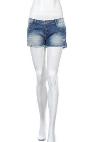 Дамски къс панталон Vintage, Размер L, Цвят Син, 98% памук, 2% еластан, Цена 20,95лв.