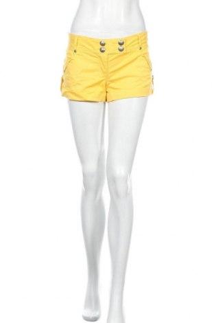 Дамски къс панталон Xoxo, Размер L, Цвят Жълт, 97% памук, 3% еластан, Цена 15,12лв.