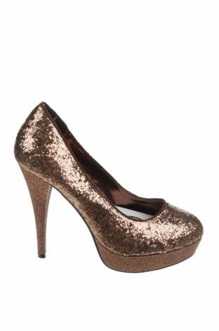 Дамски обувки Bata, Размер 36, Цвят Златист, Текстил, Цена 17,25лв.