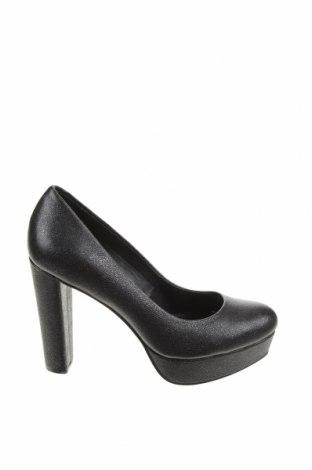 Γυναικεία παπούτσια Calvin Klein, Μέγεθος 35, Χρώμα Ασημί, Γνήσιο δέρμα, Τιμή 26,72€