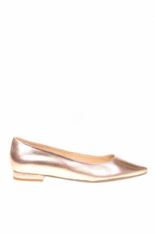 Γυναικεία παπούτσια Gianni Gregori, Μέγεθος 38, Χρώμα Χρυσαφί, Γνήσιο δέρμα, Τιμή 37,89€
