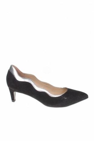 Дамски обувки Mellow Yellow, Размер 36, Цвят Черен, Естествен велур, Цена 28,66лв.