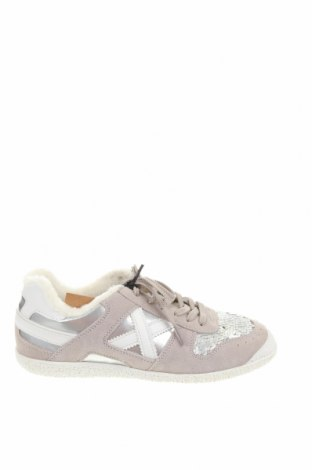 Γυναικεία παπούτσια Munich, Μέγεθος 40, Χρώμα Γκρί, Φυσικό σουέτ, κλωστοϋφαντουργικά προϊόντα, δερματίνη, Τιμή 36,86€